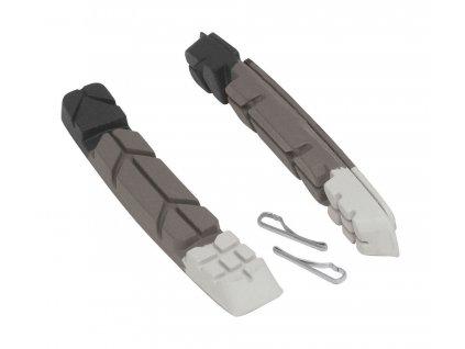 FORCE gumičky bŕzd, náhradné, čierno-šedo-biele, 70mm