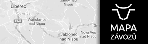 Mapa závozů Massna Liberec a okolí