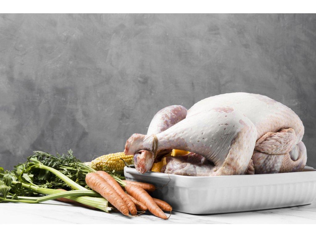 delicious raw thanksgiving turkey