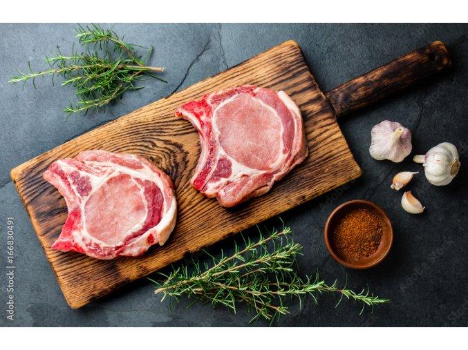 Farmářská vepřová pečeně s kostí (balení řeznický papír/sáček)