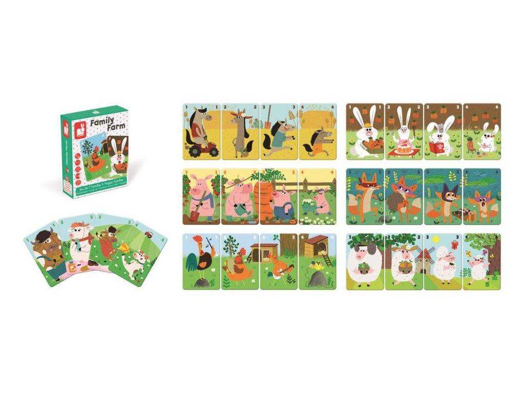 J02756 Kartova hra Rodinna farma Janod na sposob kvarteta 3 7 rokov 2 4 hraci a