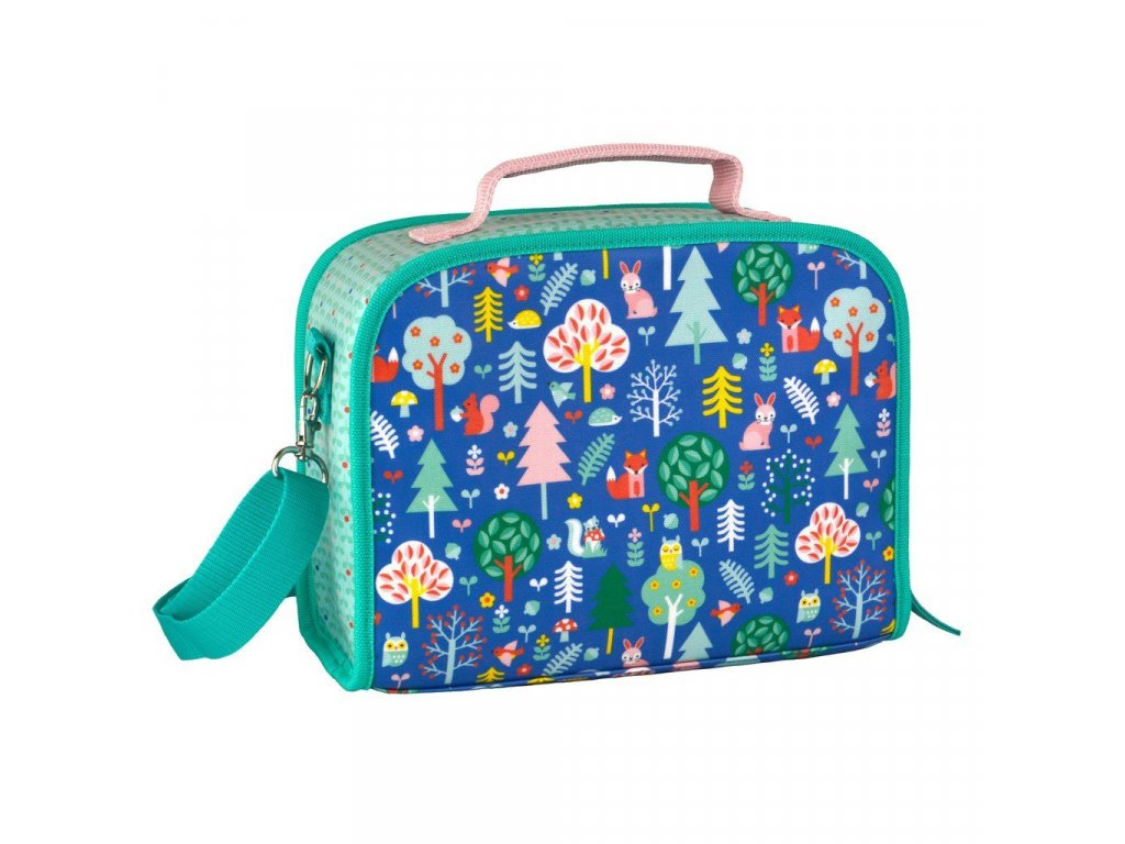 eco friendly kids insulated lunchbox forest animals pattern 1024x1024