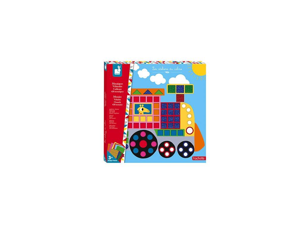J07900 Janod mozaika dopravne prostriedky kreativna sada maxi 01
