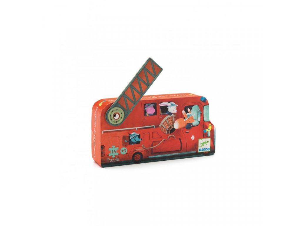 2037 1 puzzle v krabicce hasicske auto