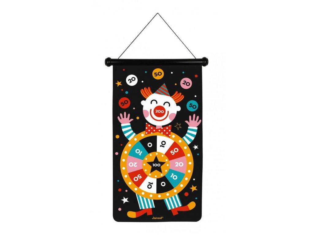 J02074 Magneticky hra Terc a sipky pre deti Cirkus Janod 1