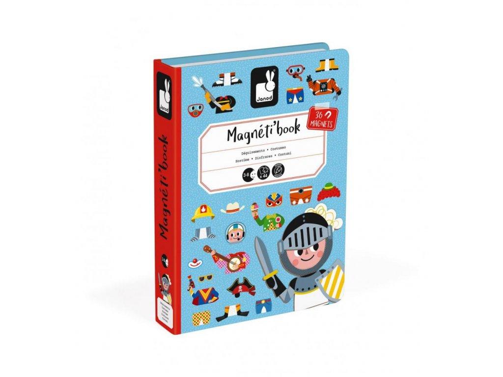 J02719 Magneticka skladacka Obliekanie Chlapci Magnetibook Janod v tvare knihy 90