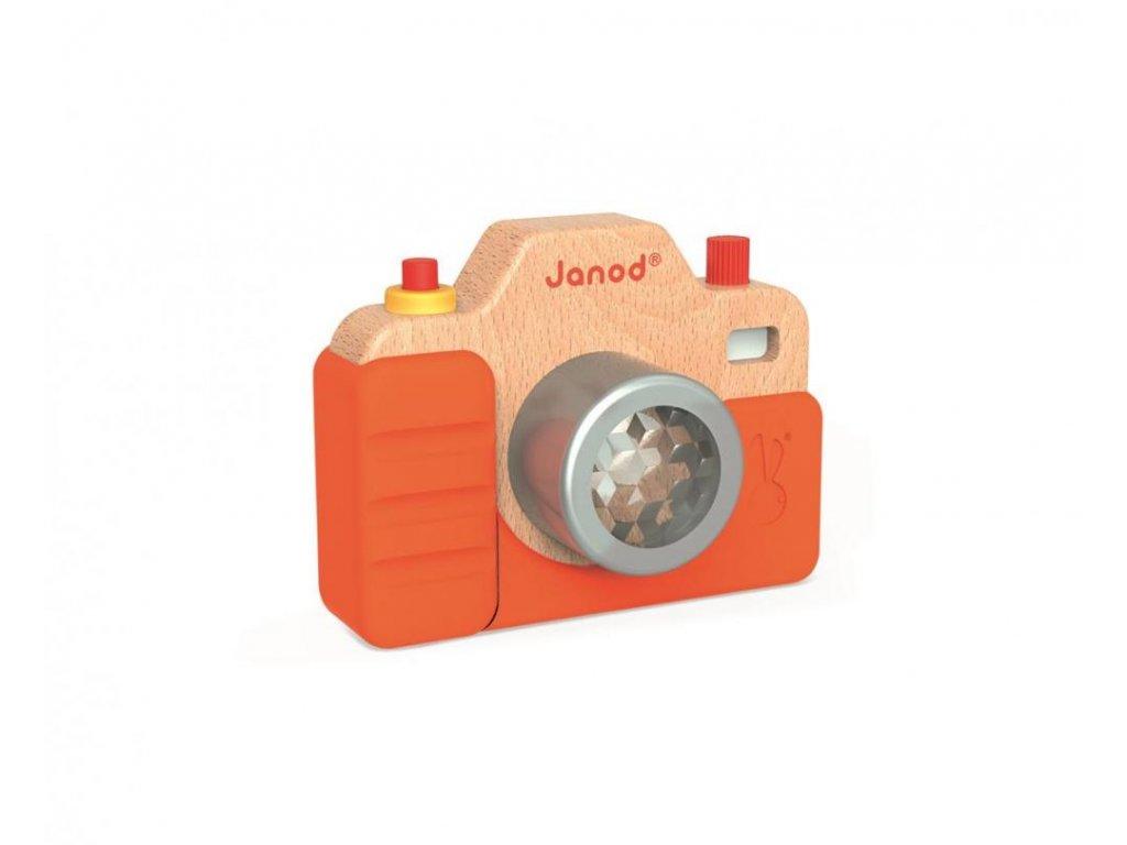 J05335 Detsky dreveny fotoaparat so zvukom a svetlom Janod od 1 roka a