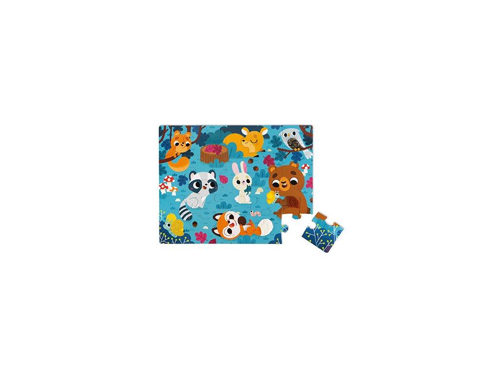 J02685 Janod Dotykove puzzle Lesne zvieratka 1