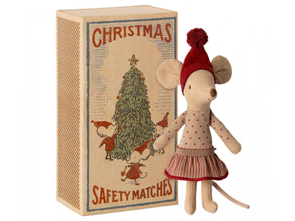 Maileg Vánoční myška v krabičce