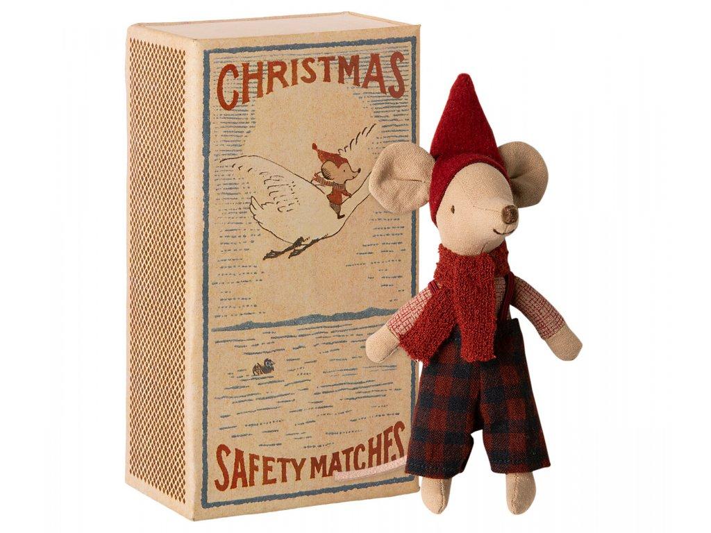 Maileg Vánoční myšák v krabičce