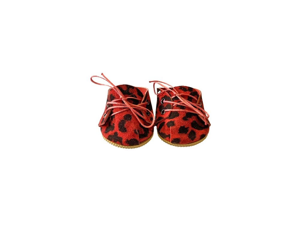 chaussure a lacets leopard ruby