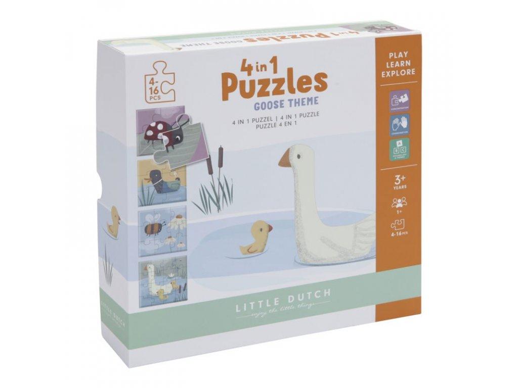 0010428 little goose 4 in 1 puzzel