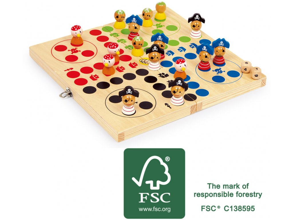 10951 legler small foot Ludo Pirateninsel FSC