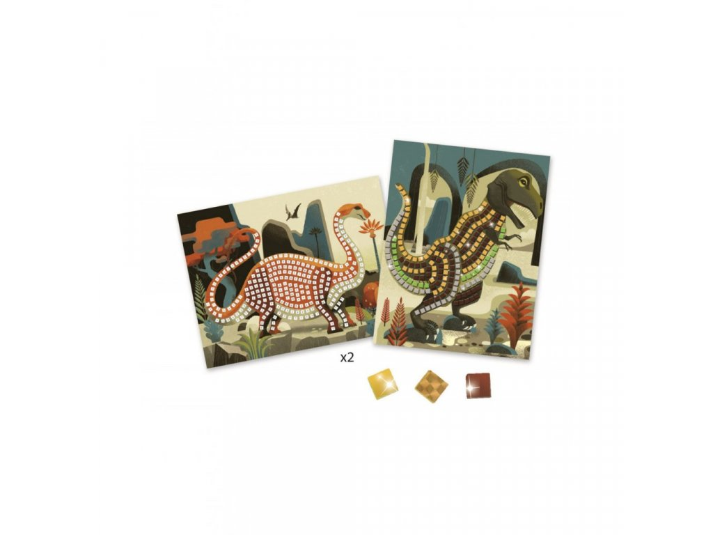 2919 2 mozaika dinosauri