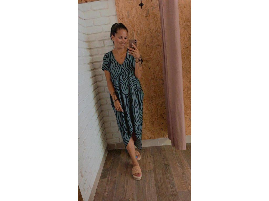 Beach dress Hugito summer 2021 -Tygr modrý