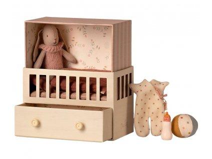 maileg micro bunny baby room 16 0021 00