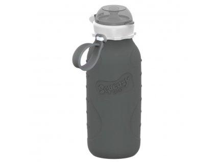 Squeasy Gear silikónová lahvička 480ml - šedá