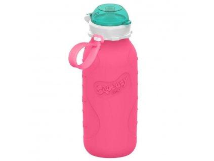 Squeasy Gear silikónová lahvička 480ml - růžová