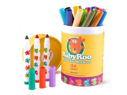 umyvatelne fixky 24ks washable markers baby roo jar melo JA90497 01 500x500