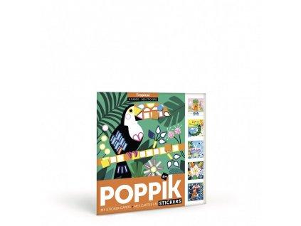 107347 poppik gommettes stickers activite manuelle tropical