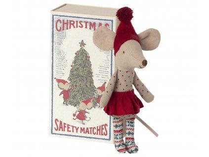 Maileg Vánoční myška v krabičce 21