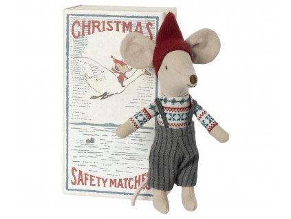 Maileg Vánoční myšák v krabičce 21