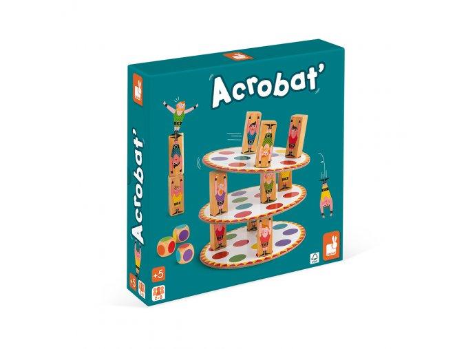 J02757 Spolocenska hra pre deti Akrobat Janod od 5 rokov 2 8 hracov hra na motoriku a rovnovahu a