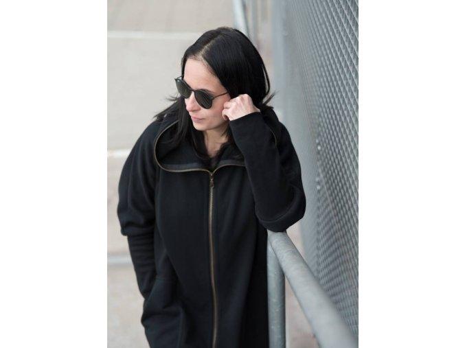 Oversize COAT Hugito černá