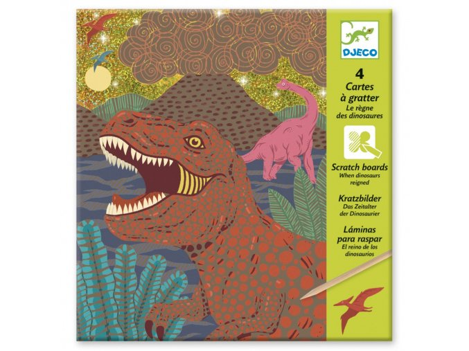 carte a gratter dinosaures 3070900097261 0