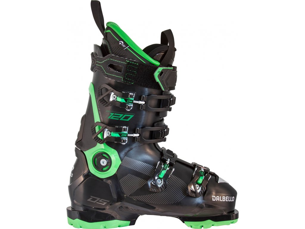 D2003007 00 Dalbello skiboot DS 120black Race Green