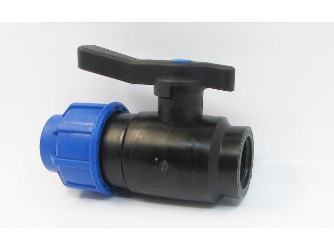 kulový ventil se svěrnou spojkou + vnitřní závit 32x1