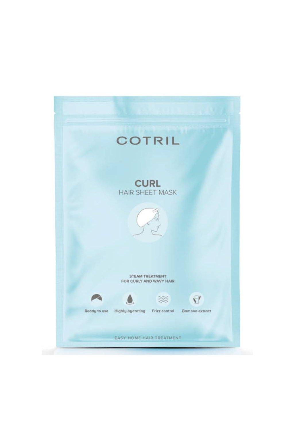 9215 cotril curl maska cepicka jednorazova vyziva a hydratace pro vlnite vlasy 35g