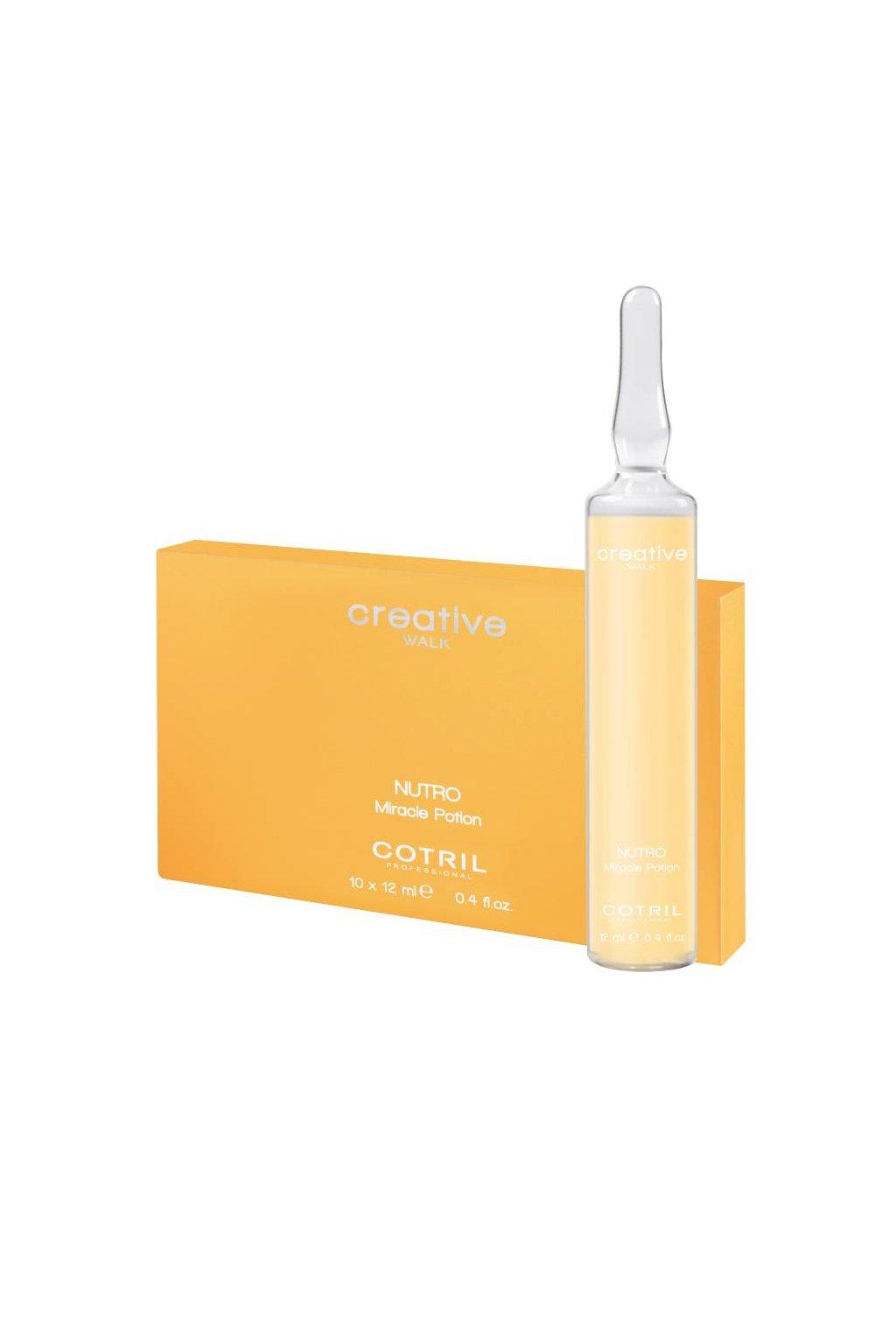 Cotril NUTRO MIRACLE POTION Ampule okamžitá výživa pro suché vlasy (Obsah 10x12 ml)