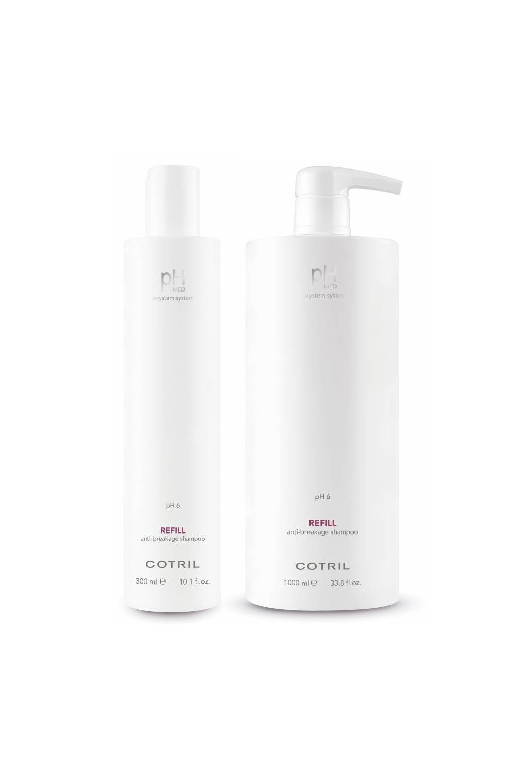 Cotril pH MED REFILL Šampon posiluje křehké a ztenčené vlasy, proti lámání (Obsah 300 ml)