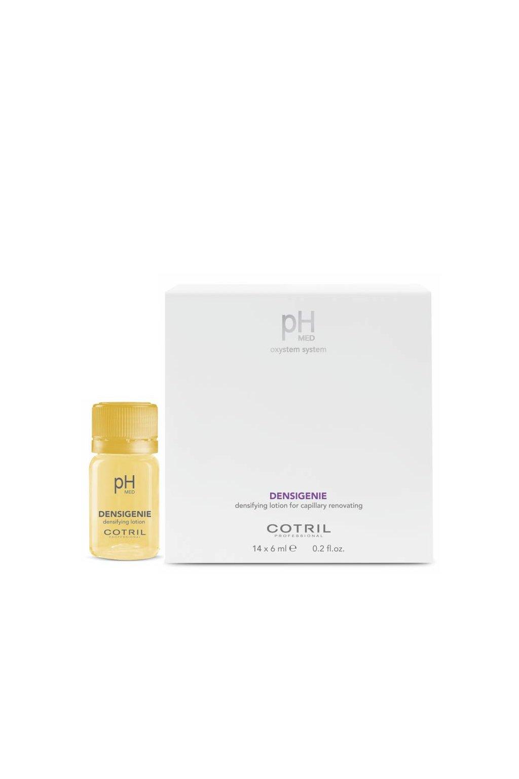 Cotril pH-MED Densigenie Ampule pro řídké vlasy, obnovuje hustotu (Obsah 14x6 ml)