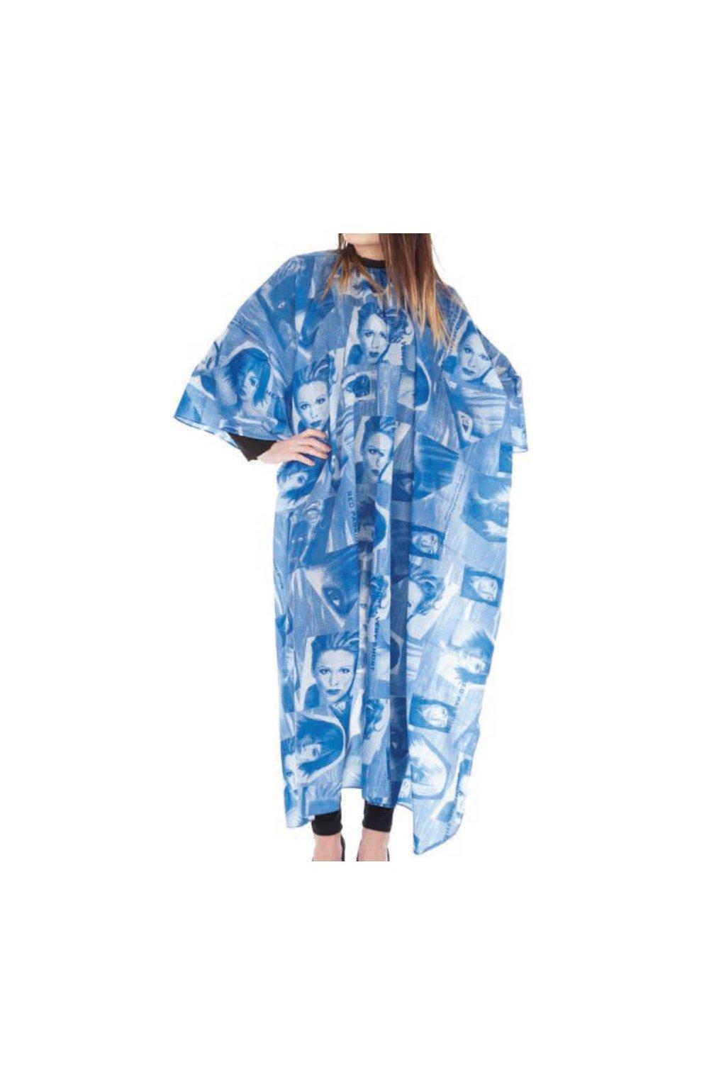 8021 kadernicky plast blu na strihani vzor nepravidelne modre obrazce hlavy 125x168cm