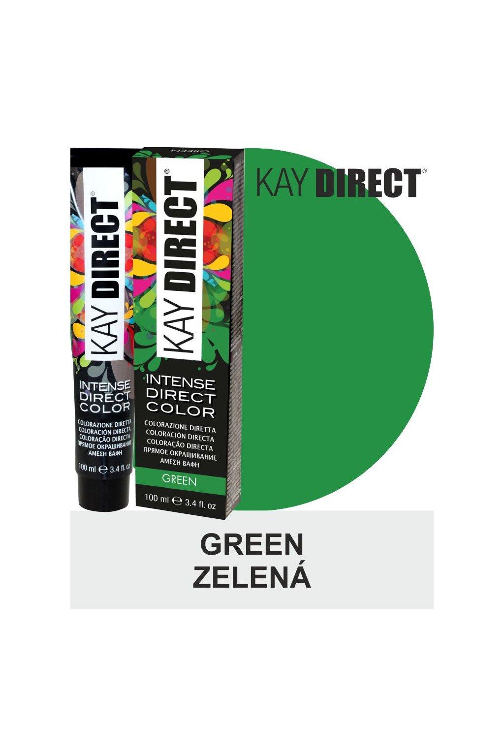 9443 kay direct barva na vlasy green zelena 100ml