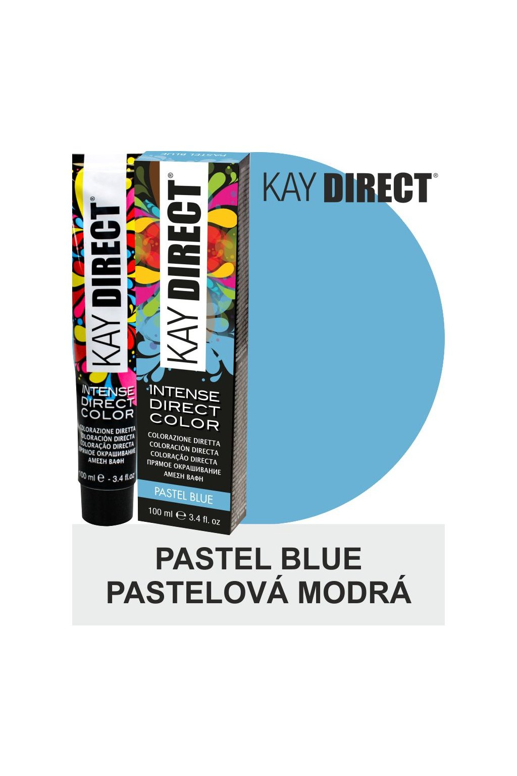 9449 kay direct barva na vlasy pastel blue pastelova modra 100ml