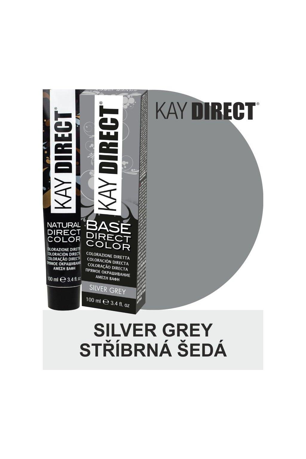 9473 kay direct barva na vlasy silver grey stribrna seda 100ml