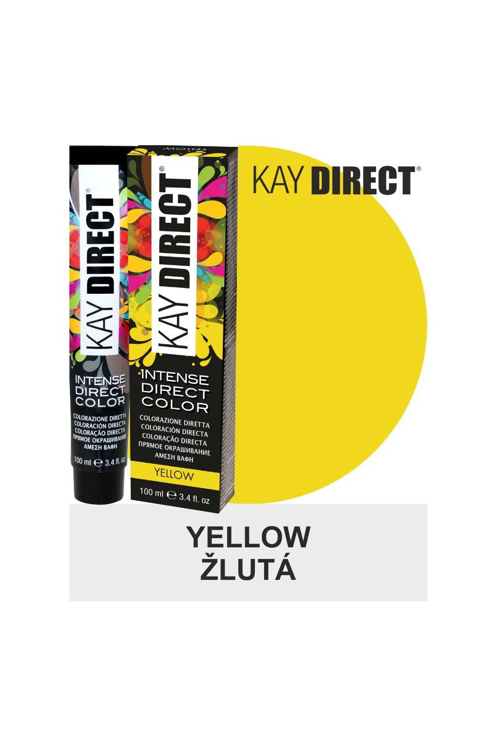 9440 kay direct barva na vlasy yellow zluta 100ml