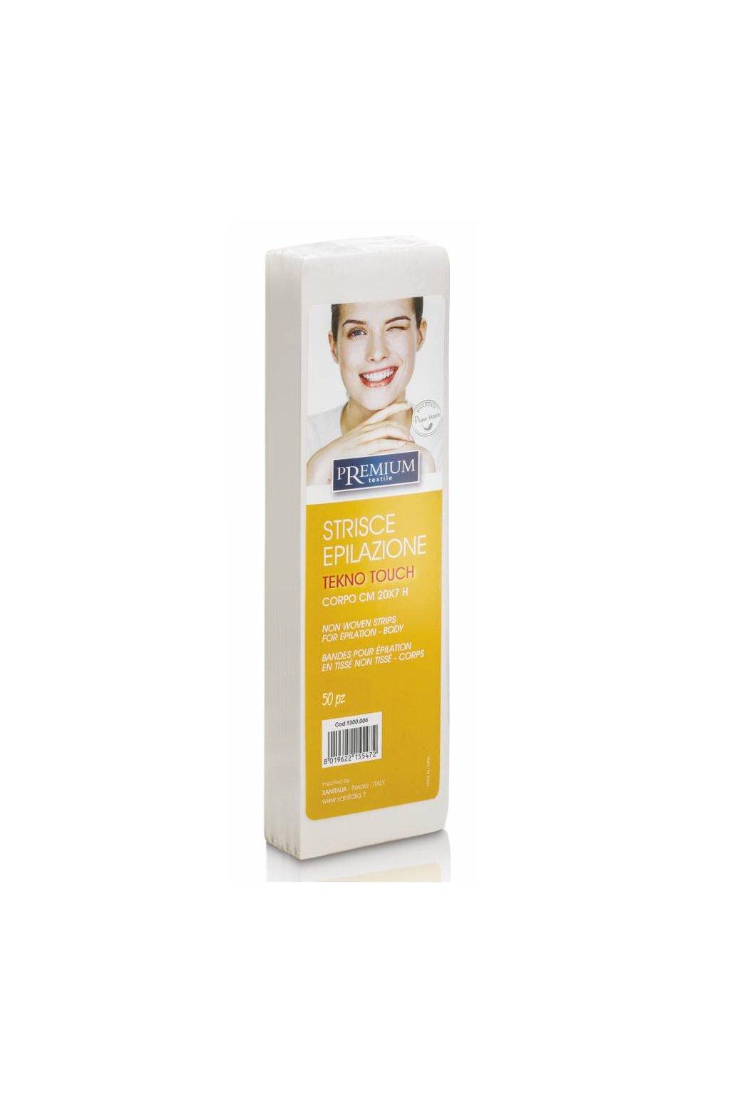 7970 kosmeticke epilacni pasky premium tekno touch 7x20cm 1bal 50ks