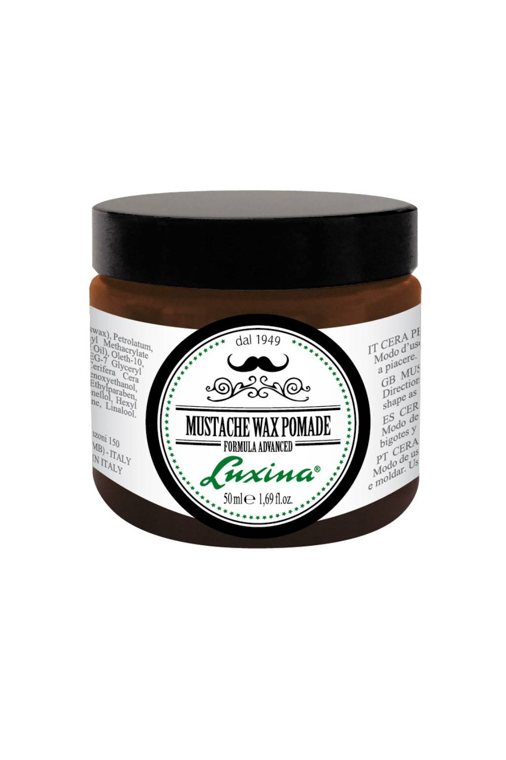 7469 luxina mustache wax pomade vosk pro vousy kvalitni prirozene zpevneni 50ml