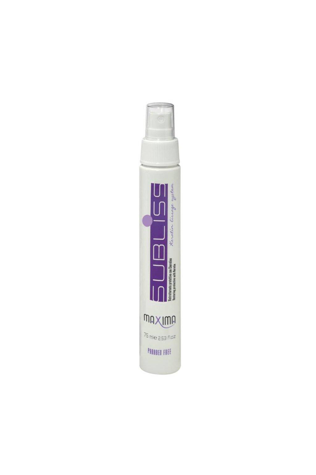 7148 maxima subliss sprej pro hladke vlasy s keratinem obnova objem ochrana pred teplem 75ml
