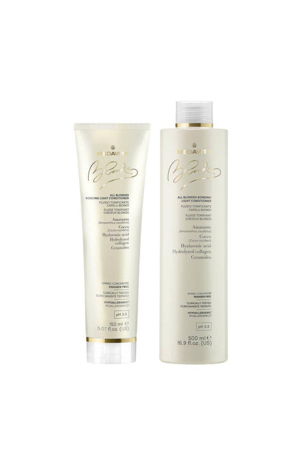 Medavita BLONDIE ALL Kondicionér posilující pro všechny typy blond vlasů (Obsah 150 ml)