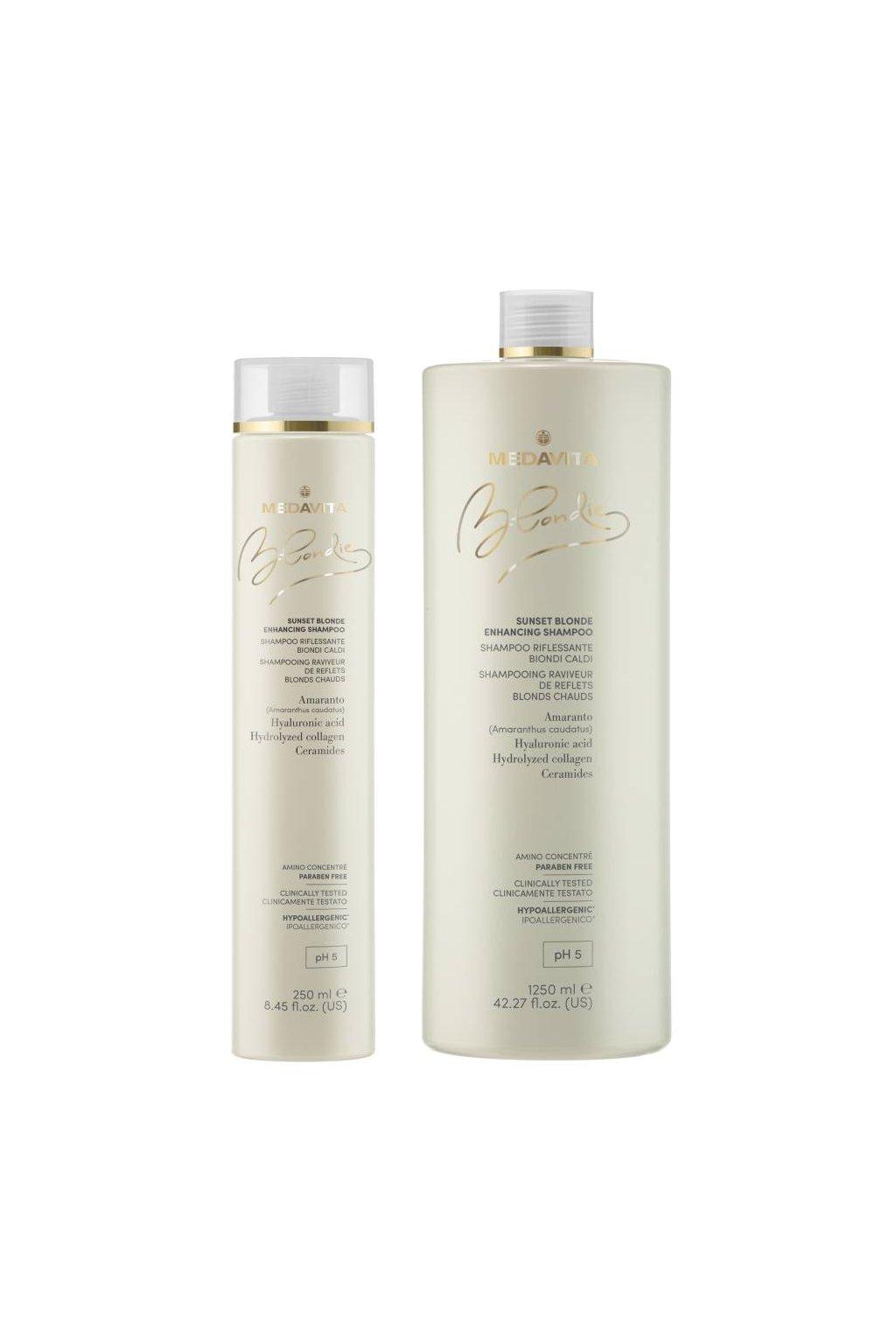 Medavita BLONDIE SUNSET Šampon s pigmenty pro teplé blond odstíny (Obsah 250 ml)