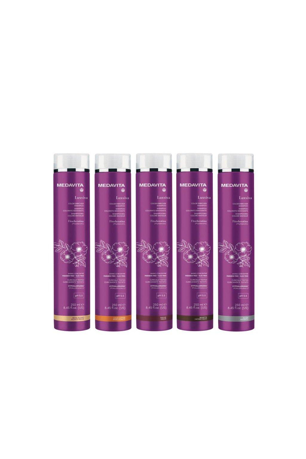 Medavita LUXVIVA Barvící šampon pro oživení barvy s filtry UVA/UVB 250ml (Barva Béžová)