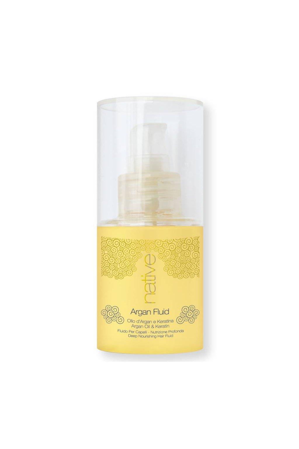 7064 native elixir argan fluid s arganovym olejem a keratinem bez zatizeni 75ml