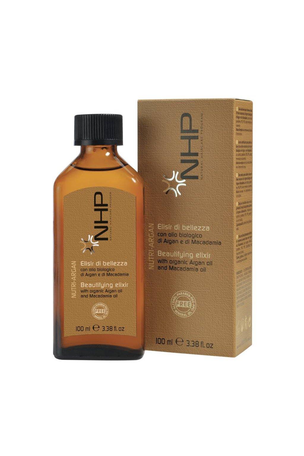 6416 nhp elixir krasy s arganovy a makadamiovy olej 100ml
