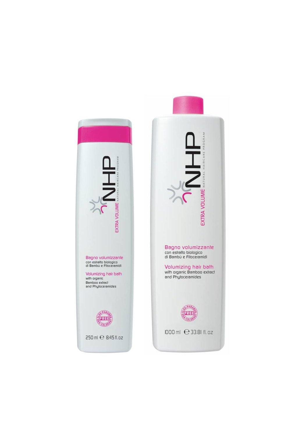 NHP EXTRA VOLUME Šampon pro objem a sílu, s Fytoceramidy (Obsah 250 ml)