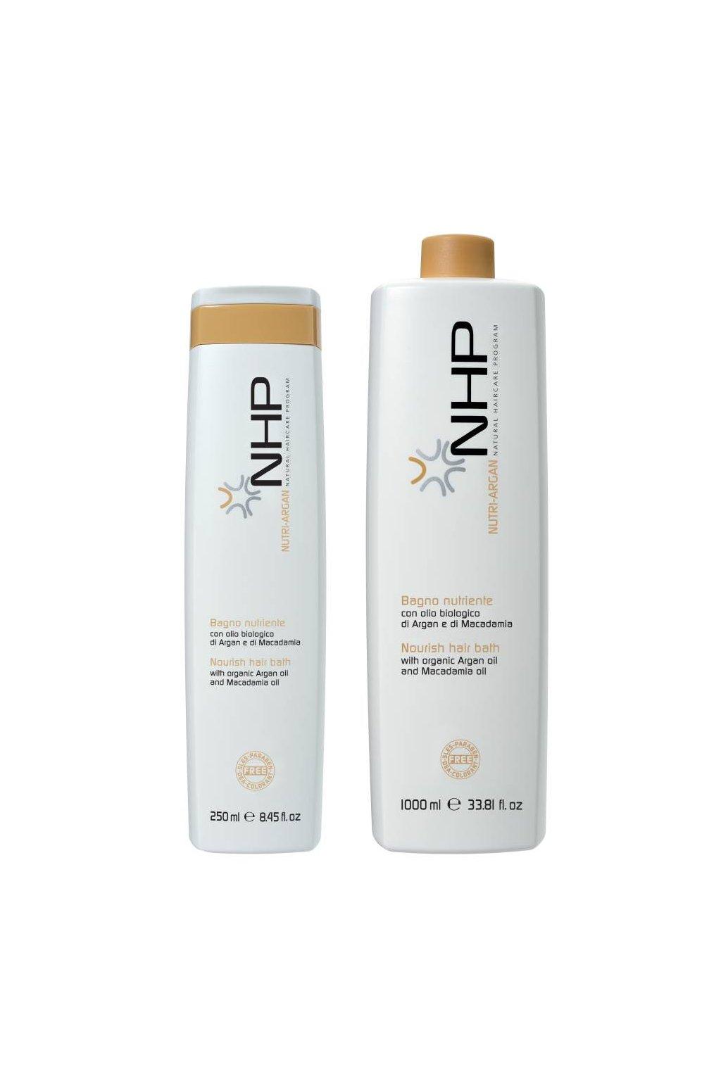 NHP NUTRIENTE Šampon hloubkově vyživující s arganem (Obsah 250 ml)